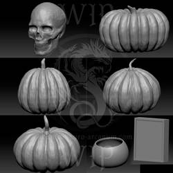 Halloween Tombstone - Zbrush WIP by ObscuroArcanum