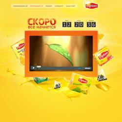 Lipton promo page by nikitaindesign
