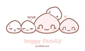 happy bun family by milkbun