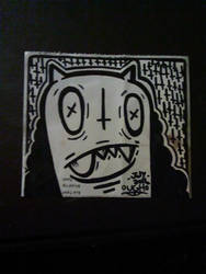 Ugly sticker-Mr.Ugh by MisterFuniBuni