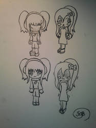 Manga Characters designs by RosaPeach