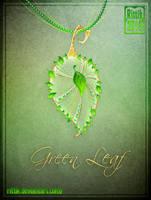 Amulet - Green Leaf by Rittik