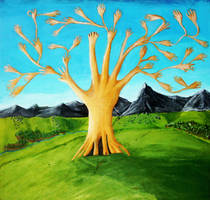 The Tree of Hands by Funkymunkz