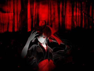 Demon Aka  Blood anime Girl - Wallpaper by kirigawakazuto