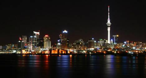 Auckland skyline by Gee-Fatboy