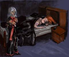 'Shhhh....Don't Wake 'Daddy'' by pitbulllady