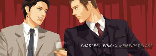 Charles and Erik by scarlet-xx