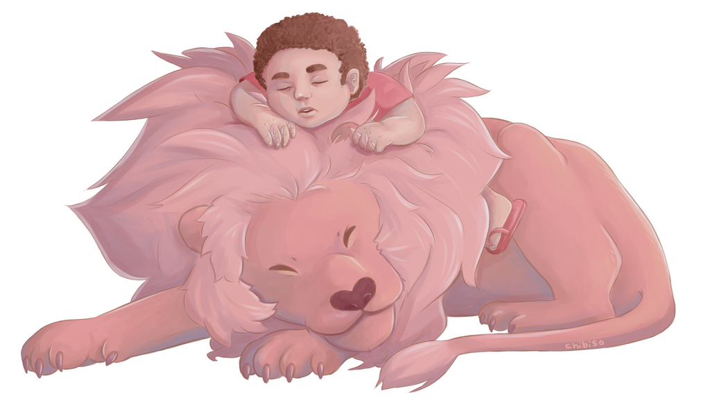 [and lion] This one was a bit sloppier than the others, i apologize. Steven Universe (c) Rebecca Sugar Art (c) me