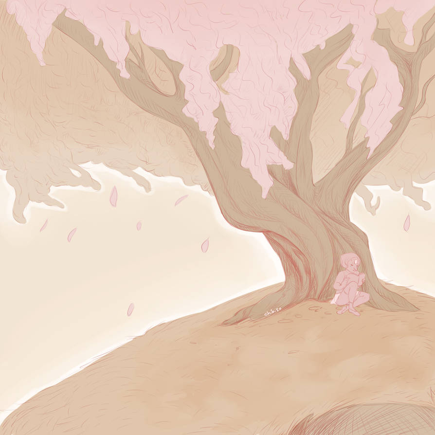 I choose the cherry tree. I dont even know if it's on the limits of beach city but i wanted to draw it anyway. This was is just a sketch. Steven Universe (c) Rebecca Sugar