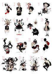 Inktober print sale by Naimane