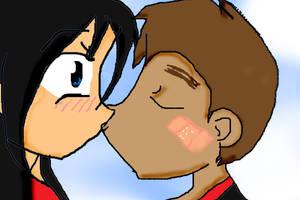 raikim kiss by africananime101