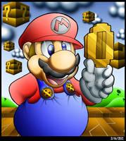 Mario Found A Gold Coin. by Virus-20