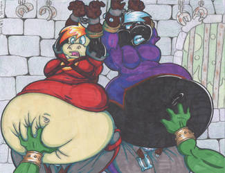 Sendo And Gaiden Fat Gut Grope Captives. by Virus-20