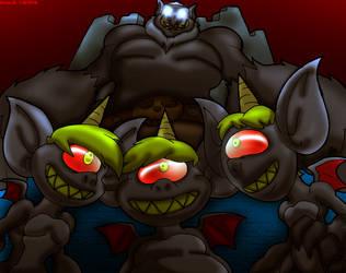 Elemental Imps. Troll King. by Virus-20