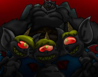 Elemental Imps. Troll King. darker shade by Virus-20
