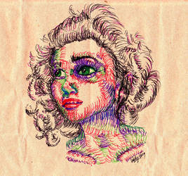 Helena Carter line sketch by lildoombat