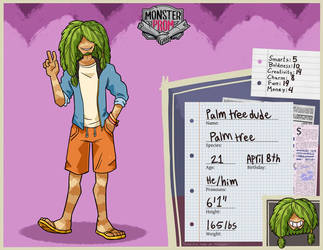Monster prom oc - Palm tree dude by yellow-pyro