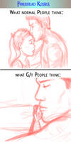 Normal vs Gt - Forehead Kisses by Obsess-Confess