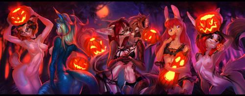 Halloween YCH by LadonbKokosa