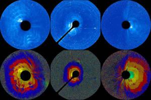Time progression of a solar eruption on 2013 Mar 5 by eitv3