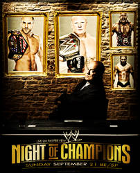 WWE Night Of Champions Poster by SatlaDesigner