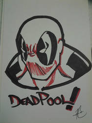Deadpool Headshot by AC009