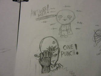One Punch Man Doodle by leono9000