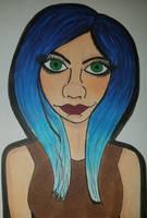 Blue Hair by Bringmoresorrowsart