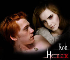 Ron and Vampire Hermione by David-Zahir