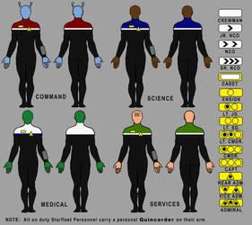 ST.CHRONICLE.starfleet.uniforms by David-Zahir