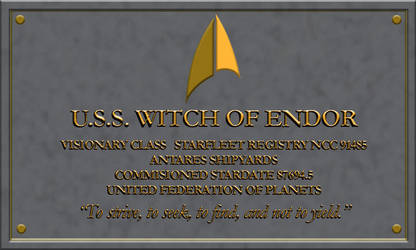 Resgistry USS WITCH OF ENDOR by David-Zahir
