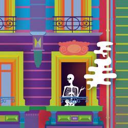 Skeleton Girl by harajukumatt