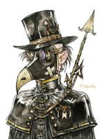 Steampunk bounty hunter by lauramissaoki