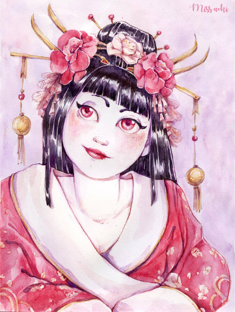 Red Geisha by lauramissaoki