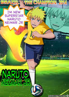 Naruto Neimar Jr Brazil World Cup 2014 by eduartineanimacionet
