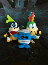 Mr. Bump and two of the Koopalings at the Gardens by hershey990