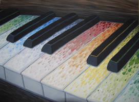 Rainbow Piano by Bewilderbeast