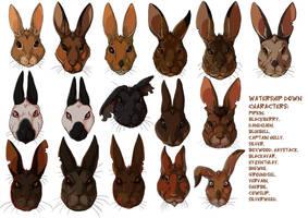 Watership Down rabbits by LadyFiszi