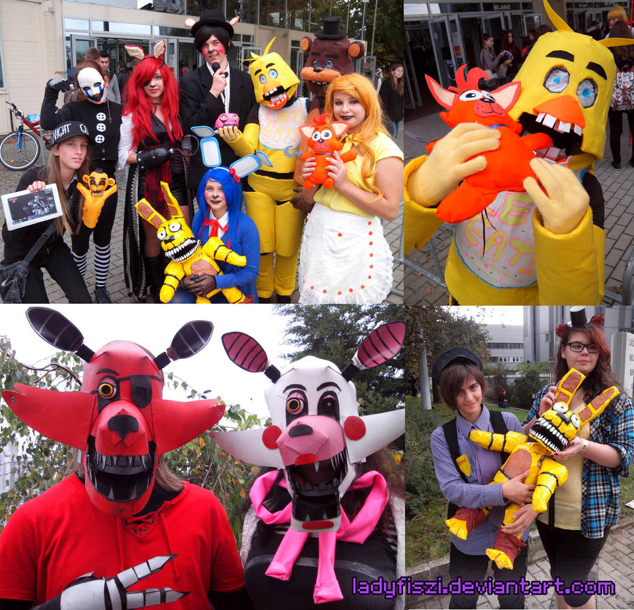 FNAF cosplay at Mondocon, Hungary by LadyFiszi on DeviantArt