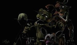 FNAF 3- phantom animatronics by LadyFiszi