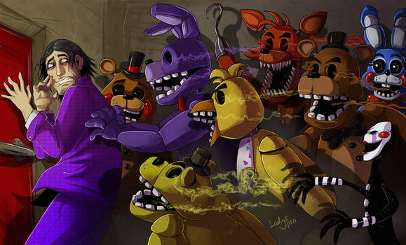 FNAF - Purple Guy's nightmare 2 by LadyFiszi
