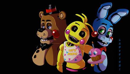 FNAF 2 - toy animatronics by LadyFiszi