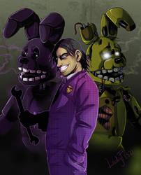 FNAF - purple man by LadyFiszi