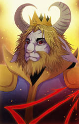 King Asgore by LadyFiszi