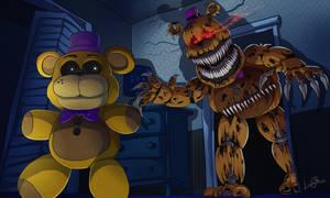 Fredbear Nightmare by LadyFiszi