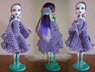 Spectra with lilac crochet dress by IceBluemchen