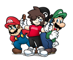 Super Caterina as Nintendo promoter by SuperCaterina
