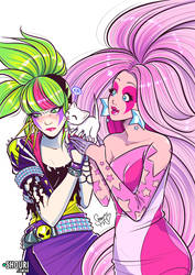 Jem and Pizzazz by ShouriMajo