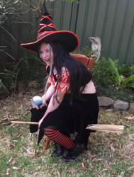 Orange Witch Blooper by astrals-stock