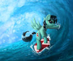 Tidal Wave Surfing by 2snacks